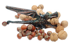 Nutcracker and nuts Royalty Free Stock Image