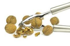 Nutcracker and nuts Royalty Free Stock Images