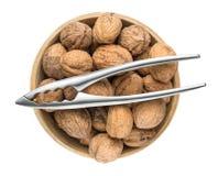 Nutcracker and organic Walnuts Royalty Free Stock Image