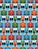 Nutcracker pattern. Nutcracker soldier seamless pattern with clipping path Stock Photos