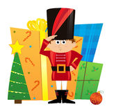 Nutcracker and Presents Stock Photography