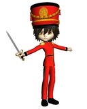 Nutcracker Prince. Prince or toy soldier from the Christmas ballet, The Nutcracker, toon-style 3d digitally rendered illustration Stock Photo