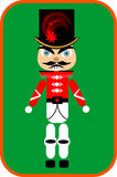 Nutcracker soldier. In red costume, cartoon design Stock Image
