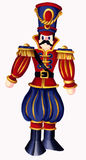 Nutcracker Soldier. A bold design of a Nutcracker Soldier in deep reds,blue, black & gold Stock Photography