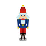 Nutcracker soldier. An isolated nutcracker soldier on a white background Royalty Free Stock Images