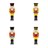Nutcracker soldier. A set of nutcracker soldiers on a white background Stock Images