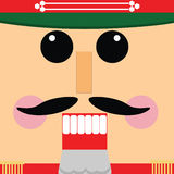 Nutcracker. Square Christmas nutcracker with hat and mustache Stock Photos