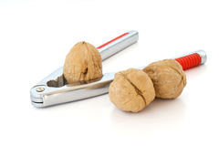 Nutcracker with three walnuts Stock Photo