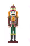 Nutcracker toy soldier isolated. On white background Stock Image