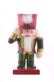 Nutcracker toy soldier isolated Stock Images