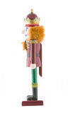 Nutcracker toy soldier isolated Royalty Free Stock Photo