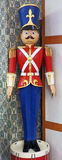 `Nutcracker` Toy Soldier. A life-size `Nutcracker` Toy Soldier on display for Christmas Stock Photo