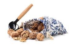 Nutcracker with walnut Stock Image