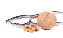 Nutcracker and walnut. Royalty Free Stock Photo