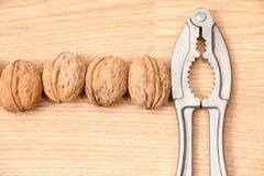 Nutcracker and walnut Royalty Free Stock Photos