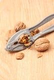 Nutcracker and walnut Royalty Free Stock Photography