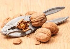Nutcracker and walnut Royalty Free Stock Image