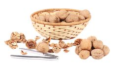 Nutcracker and walnuts. Stock Photography