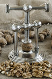 Nutcracker walnuts Stock Image