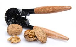 Nutcracker with walnuts Stock Photo