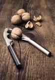 Nutcracker and walnuts Royalty Free Stock Photography