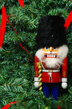 Nutcracker and a wreath Royalty Free Stock Image