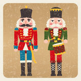 Nutcrackers. Two nutcrackers christmas card gift Stock Photography