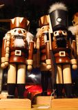Nutcrackers at a Christmas market royalty free stock images
