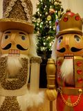 Nutcrackers at christmas. A pair of nutcrackers on christmas day Stock Photography