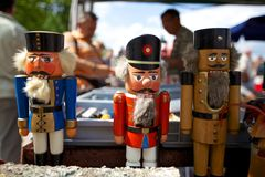 Nutcrackers on a flea market Royalty Free Stock Photography