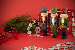Nutcrackers on Guard Stock Photos