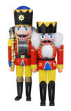 Nutcrackers isolated on white royalty free stock image