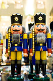 Nutcrackers in the shop Stock Images