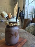 Nutella巧克力smores奶昔 库存图片