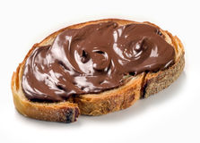 Nutella cream. On slice of bread Stock Photo