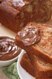 nutella för mutter för bananbrödchoklad arkivfoton