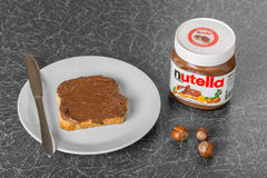 Nutella stock images