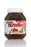 Nutella-Haselnuss-Verbreitung Lizenzfreie Stockfotos