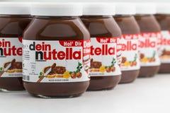 Nutella-Haselnuss-Verbreitung Lizenzfreie Stockbilder