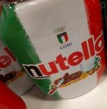 Nutella italiensk flagga Arkivfoton