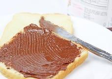 nutella kanapka zdjęcia stock