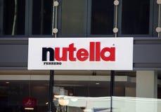 Nutella kawiarnia w Chicago Obraz Stock