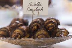Nutella Rugelach royaltyfria foton