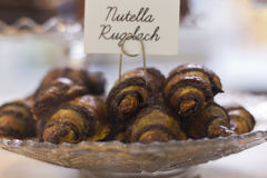 Nutella Rugelach Royalty Free Stock Photos