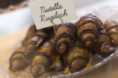 Nutella Rugelach Stock Photo