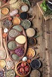 Nutitrion tema, kryddor Royaltyfria Foton
