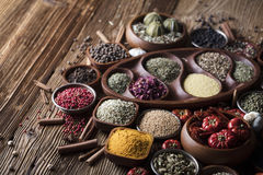 Nutitrion theme, spices Stock Images