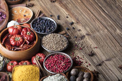 Nutitrion theme, spices Royalty Free Stock Photography
