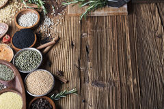 Nutitrion theme, spices Stock Photography