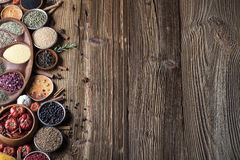 Nutitrion theme, spices Stock Photos